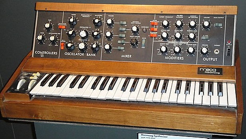 Minimoog Analog synthesizer on display at the Buffalo Museum of Science